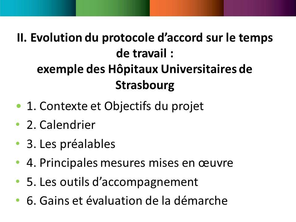 II. Evolution du protocole d'accord sur le temps de travail : exemple des Hôpitaux Universitaires de Strasbourg