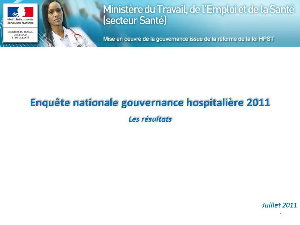 Enquête nationale gouvernance hospitalière 2011
