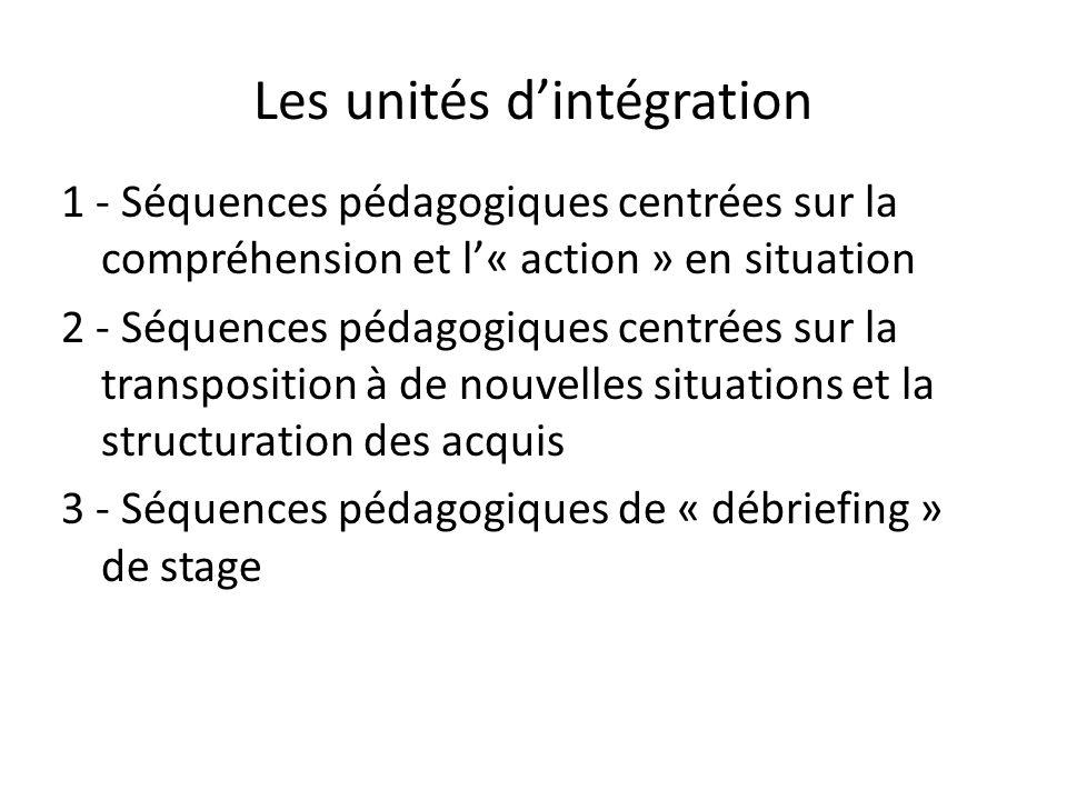 Les unités d'intégration