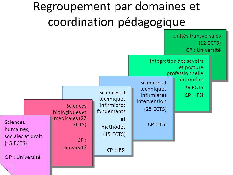 Regroupement par domaines et coordination pédagogique
