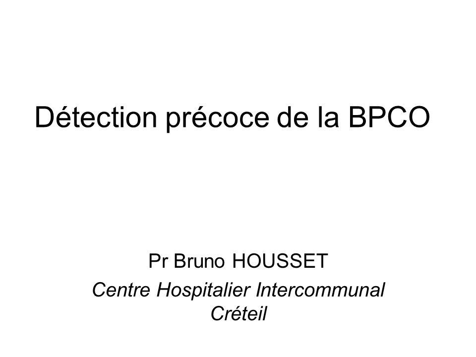 Détection précoce de la BPCO