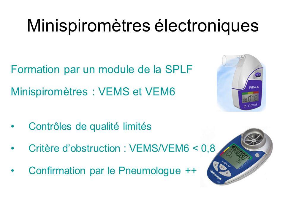 Minispiromètres électroniques