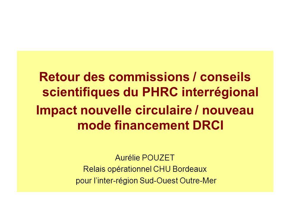 Retour des commissions / conseils scientifiques du PHRC interrégional