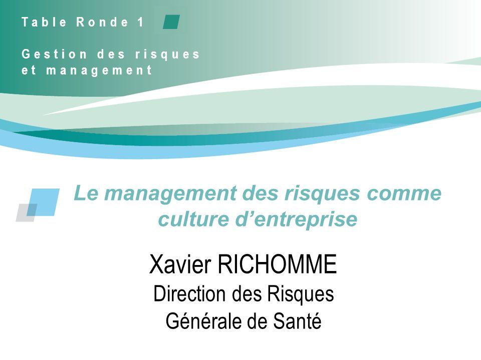 Le management des risques comme culture d'entreprise