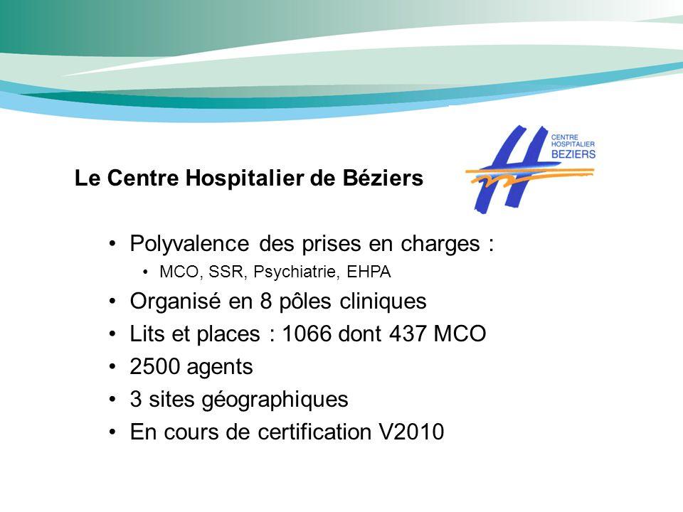 Le Centre Hospitalier de Béziers Polyvalence des prises en charges :