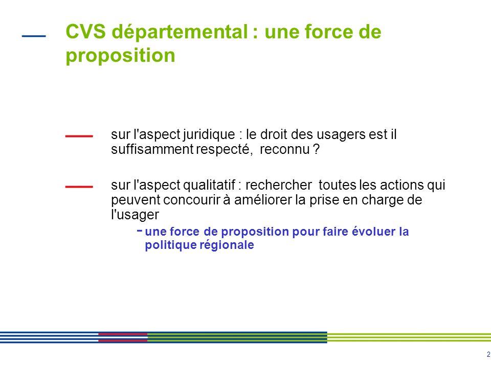 CVS départemental : une force de proposition