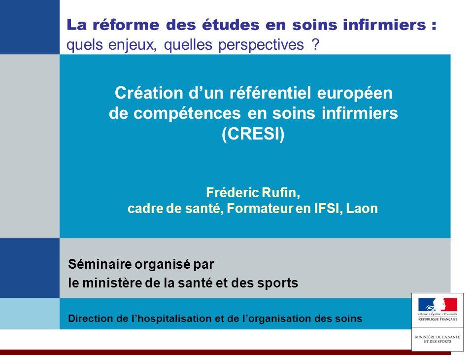 Fréderic Rufin, cadre de santé, Formateur en IFSI, Laon