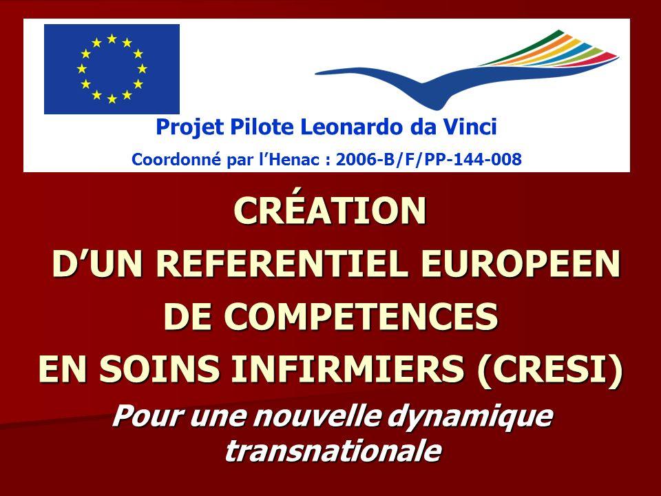 D'UN REFERENTIEL EUROPEEN DE COMPETENCES EN SOINS INFIRMIERS (CRESI)