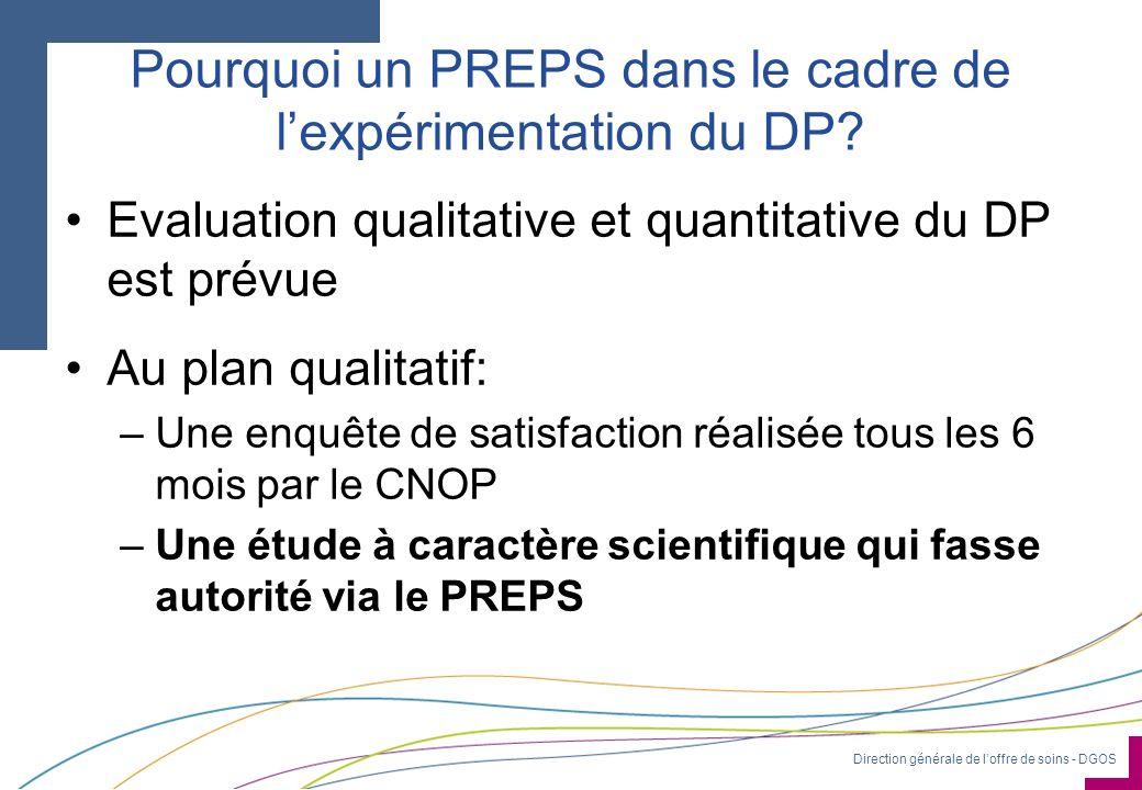 Pourquoi un PREPS dans le cadre de l'expérimentation du DP