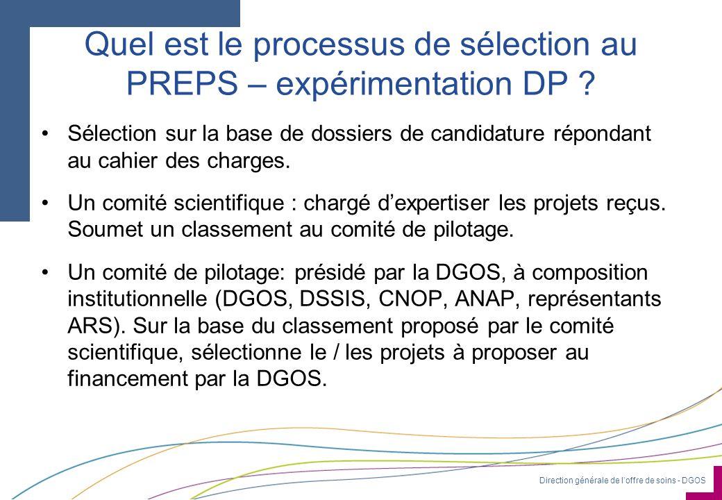 Quel est le processus de sélection au PREPS – expérimentation DP
