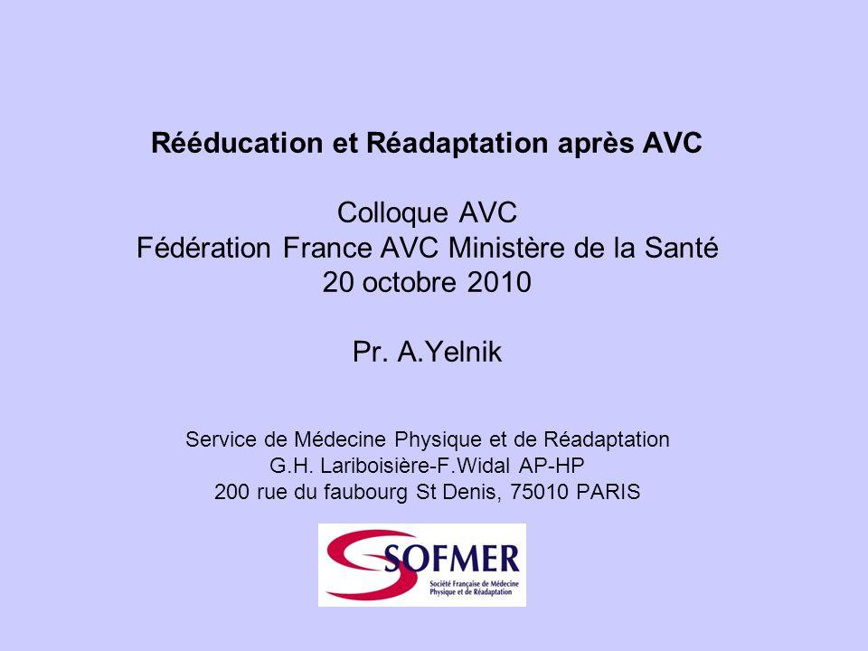 Rééducation et Réadaptation après AVC
