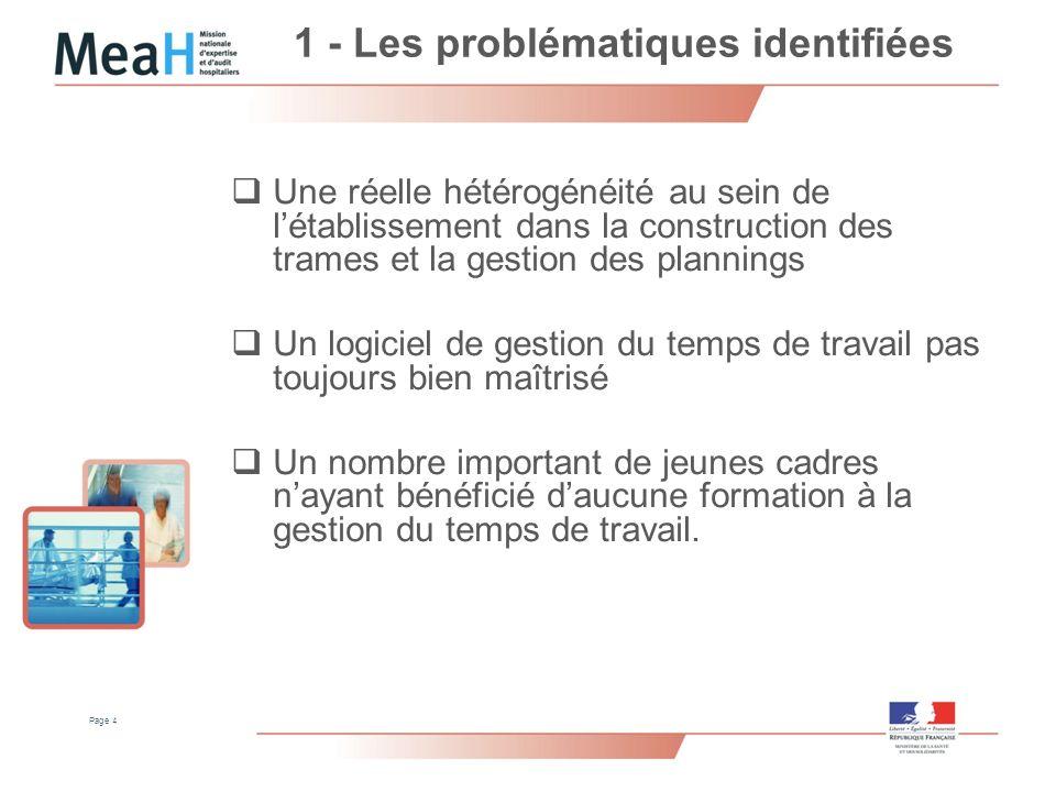 1 - Les problématiques identifiées