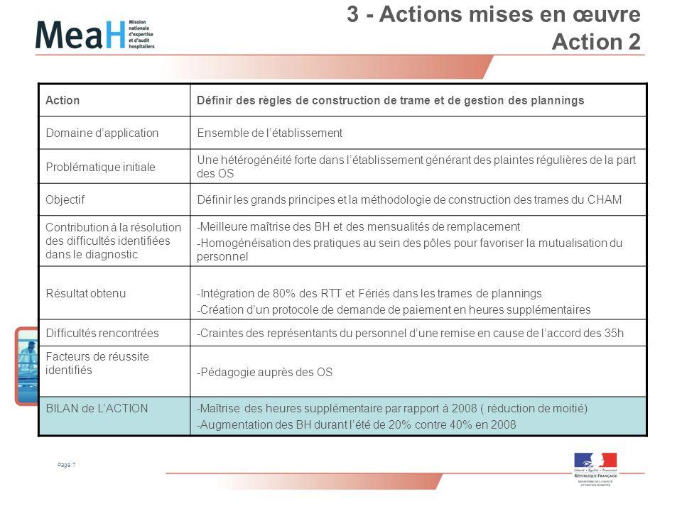 3 - Actions mises en œuvre Action 2