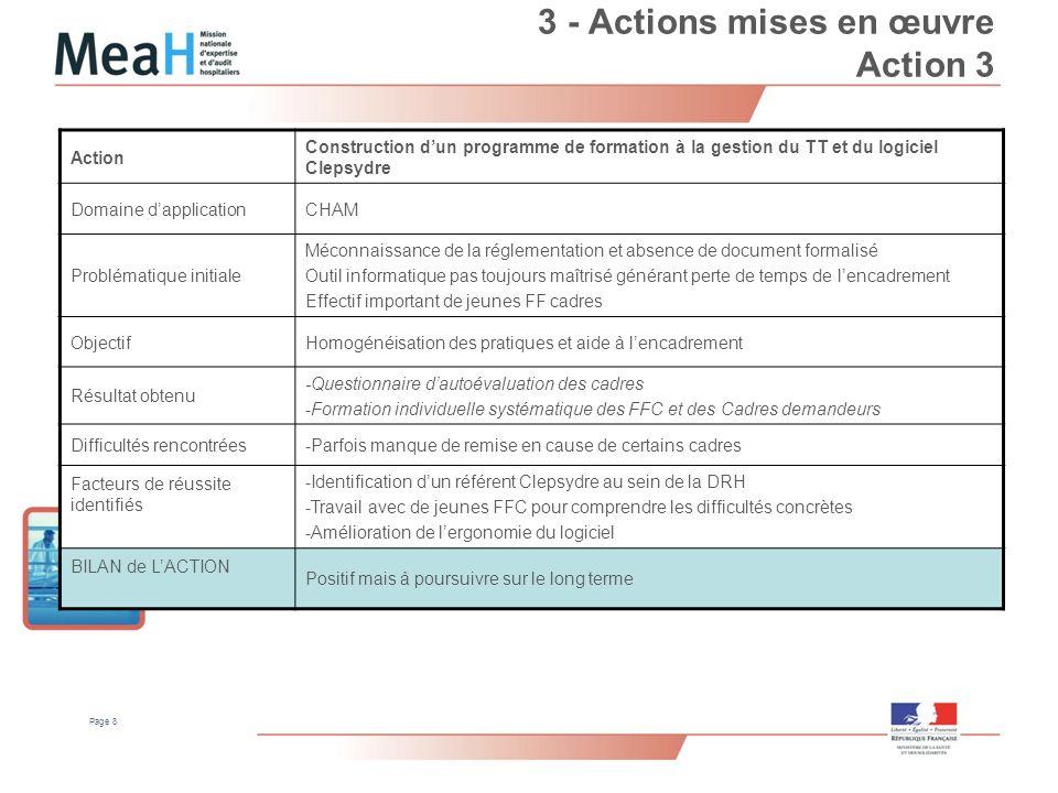 3 - Actions mises en œuvre Action 3
