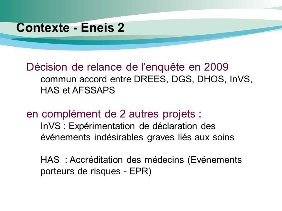 Contexte - Eneis 2 Décision de relance de l'enquête en 2009