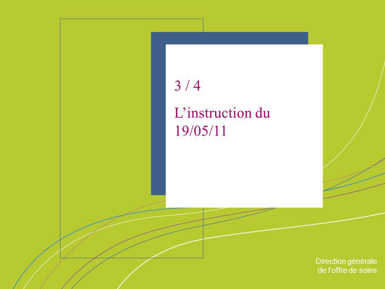 3 / 4 L'instruction du 19/05/11 ORGANISATION & MISSIONS