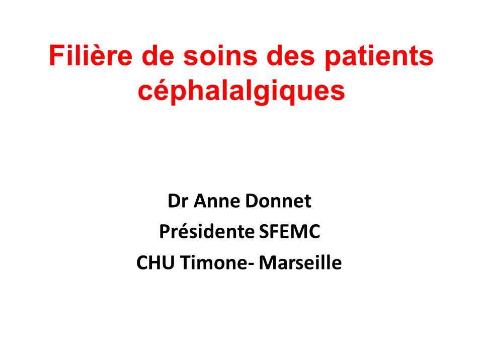 Filière de soins des patients céphalalgiques