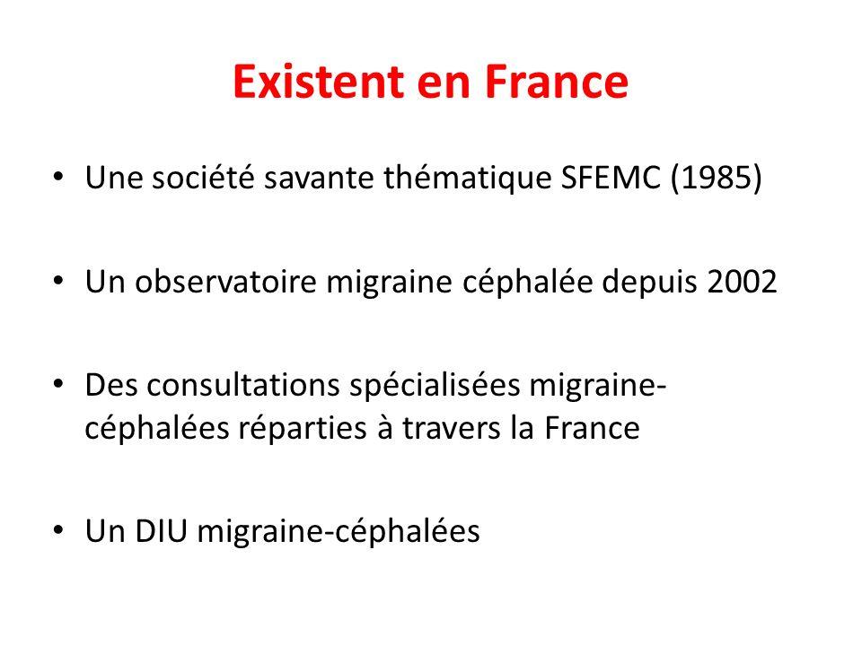 Existent en France Une société savante thématique SFEMC (1985)