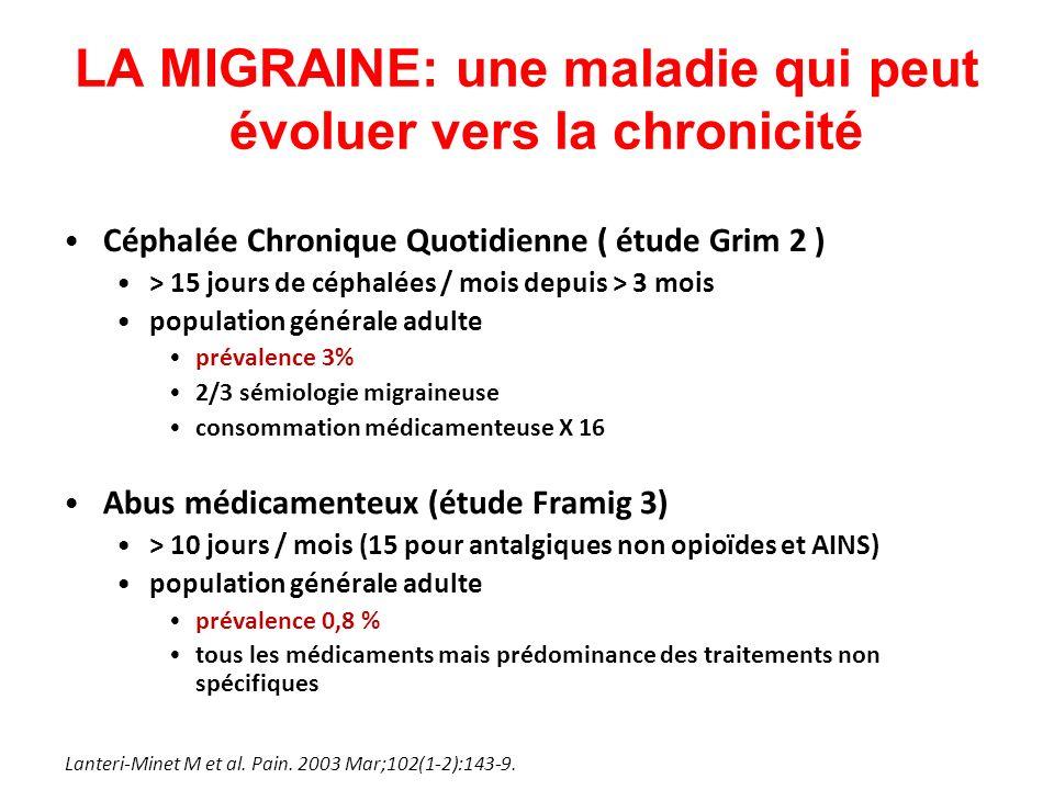 LA MIGRAINE: une maladie qui peut évoluer vers la chronicité