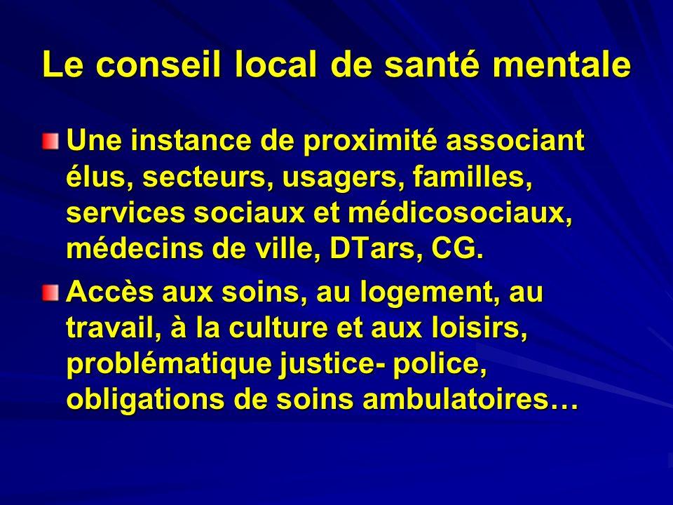 Le conseil local de santé mentale