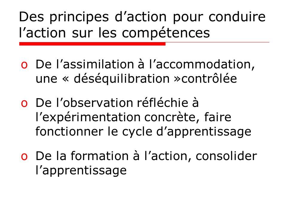 Des principes d'action pour conduire l'action sur les compétences