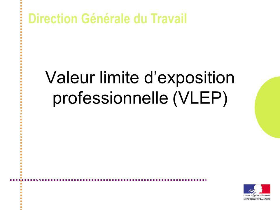 Valeur limite d'exposition professionnelle (VLEP)