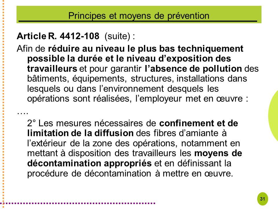 Principes et moyens de prévention
