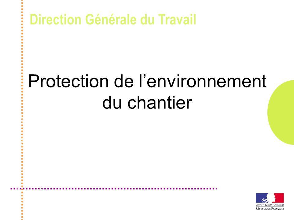 Protection de l'environnement du chantier