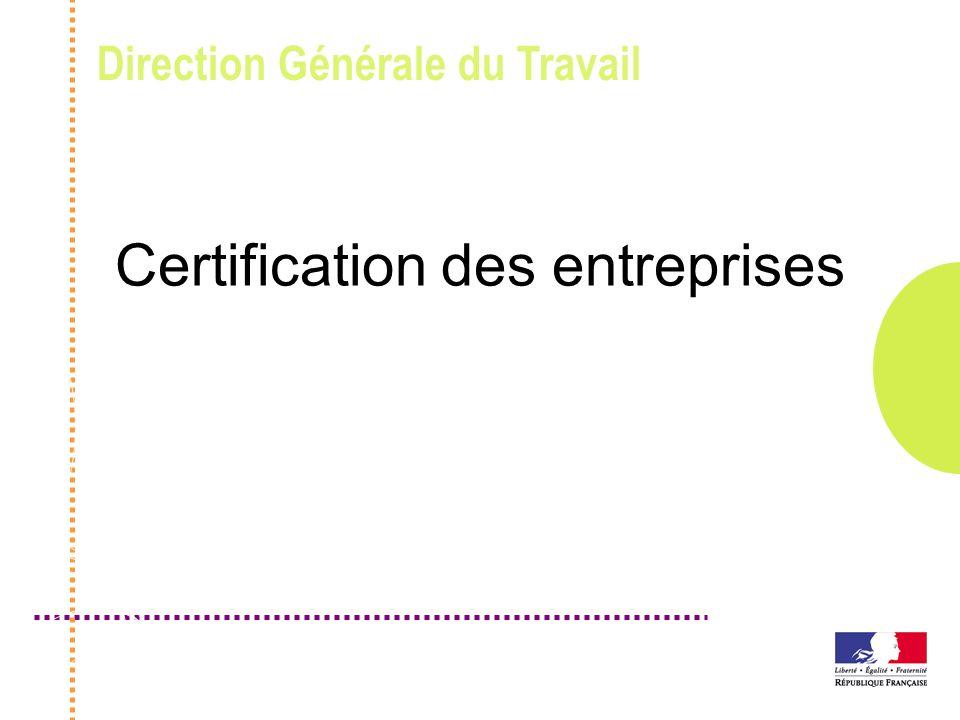 Certification des entreprises