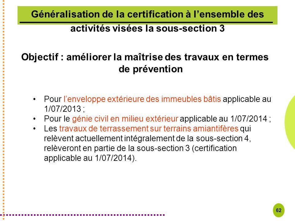 Objectif : améliorer la maîtrise des travaux en termes de prévention