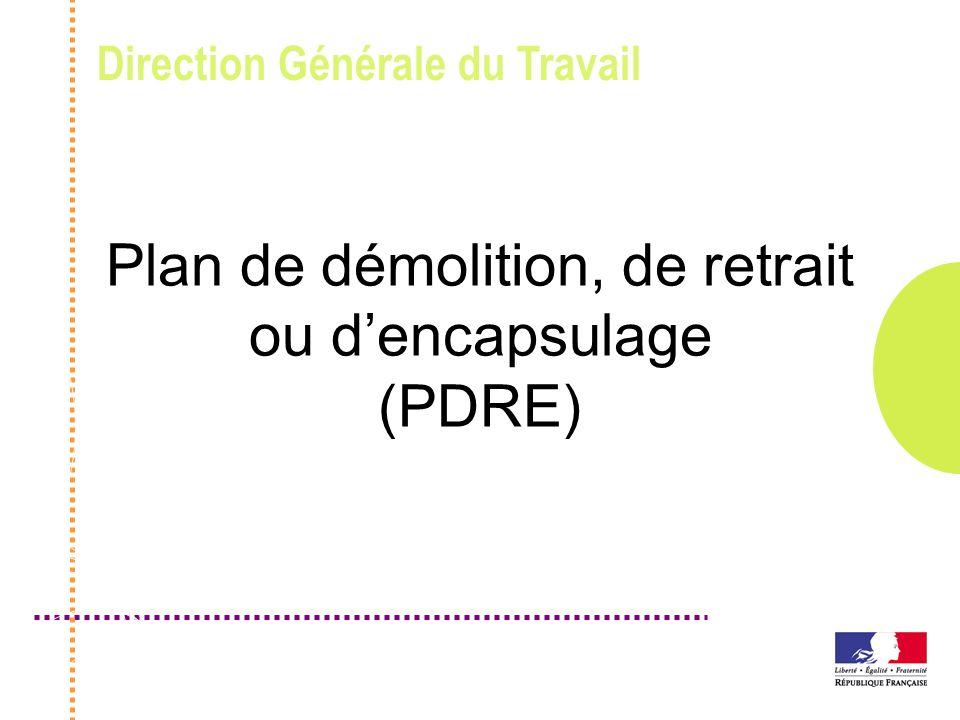 Plan de démolition, de retrait ou d'encapsulage (PDRE)