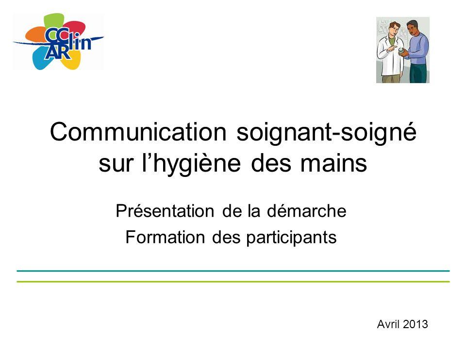 Communication soignant-soigné sur l'hygiène des mains