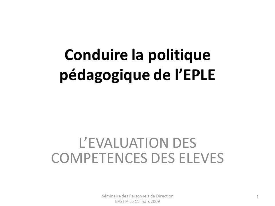 Conduire la politique pédagogique de l'EPLE