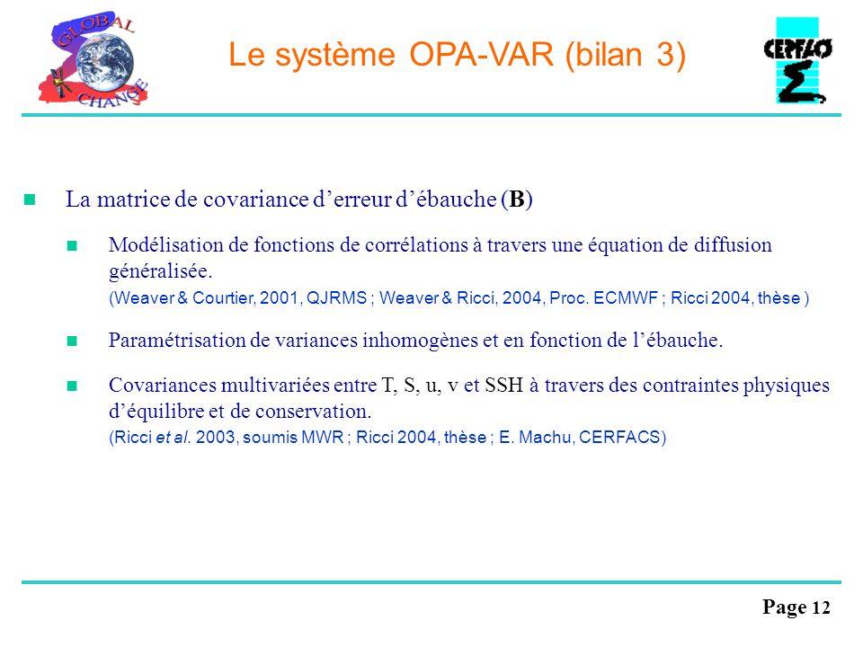 Le système OPA-VAR (bilan 3)