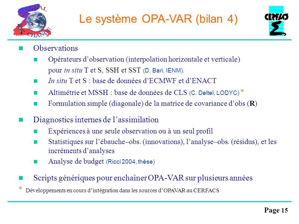 Le système OPA-VAR (bilan 4)
