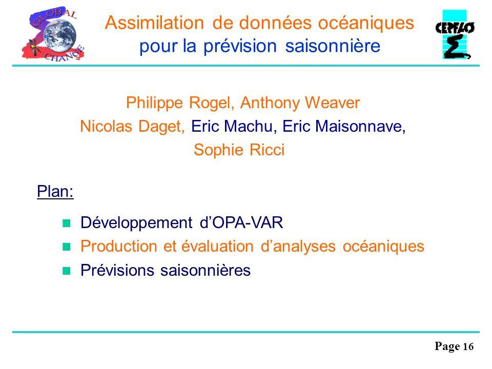 Assimilation de données océaniques pour la prévision saisonnière