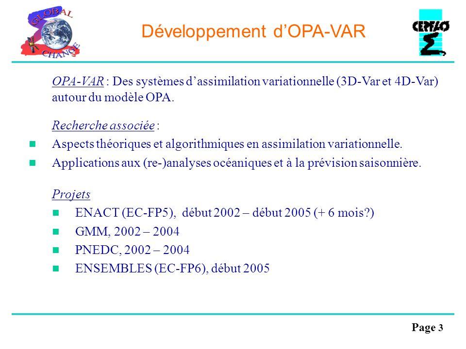 Développement d'OPA-VAR