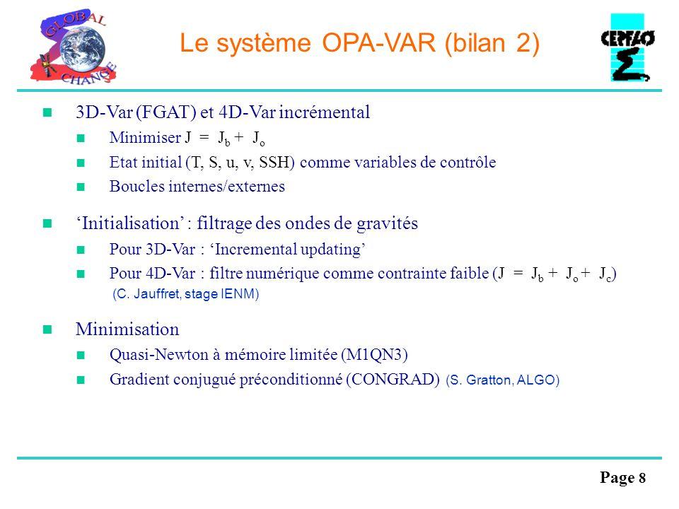 Le système OPA-VAR (bilan 2)