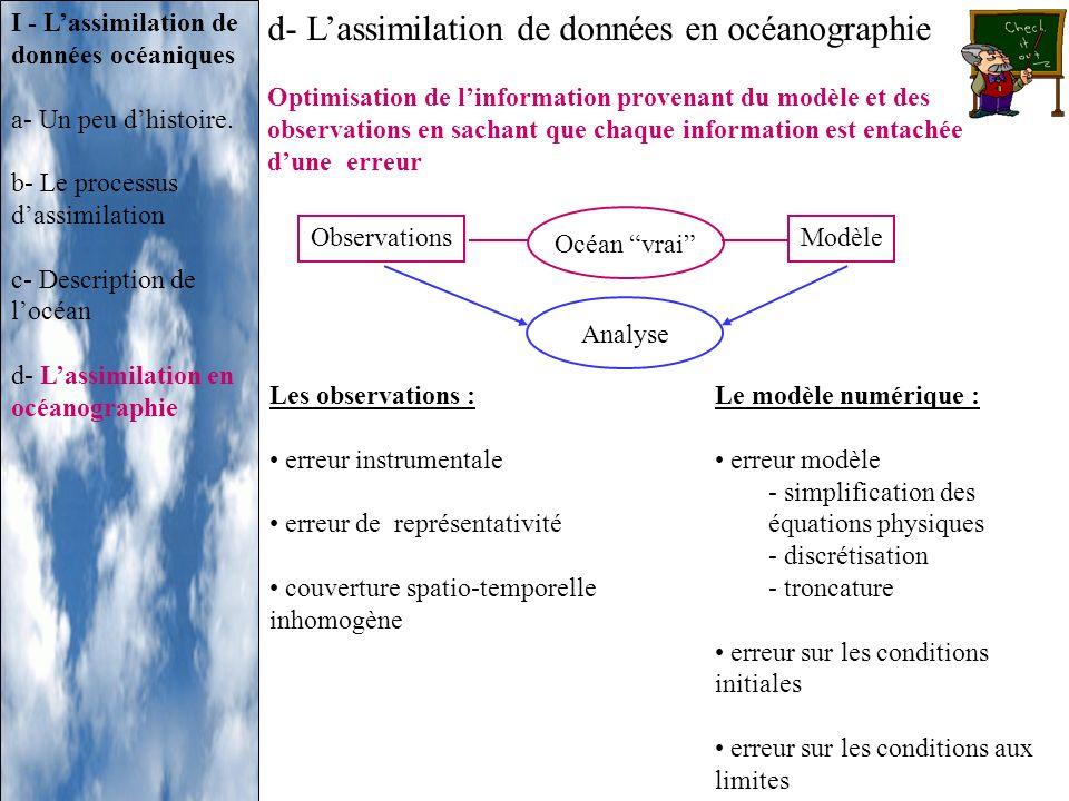 d- L'assimilation de données en océanographie