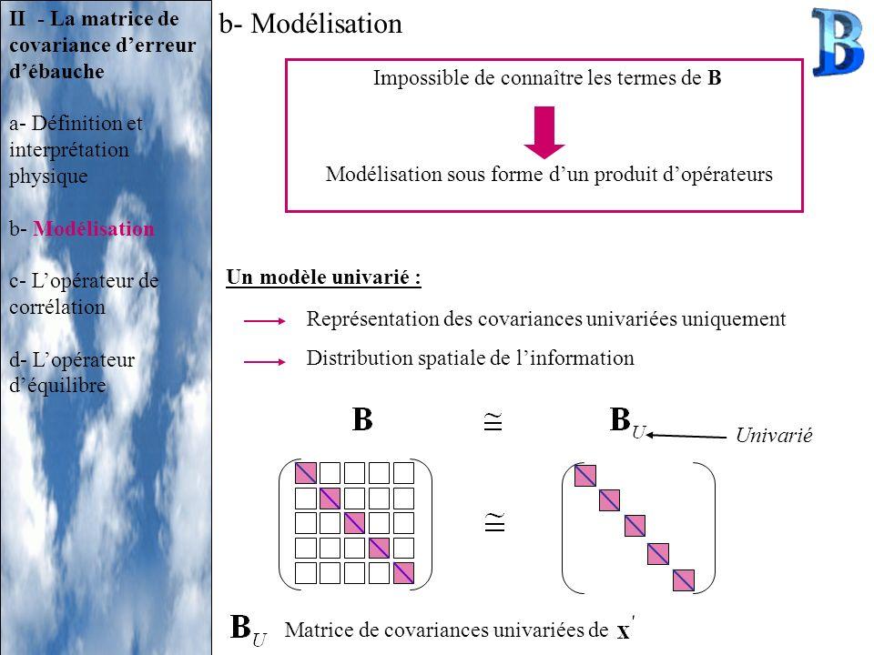 b- Modélisation II - La matrice de covariance d'erreur d'ébauche