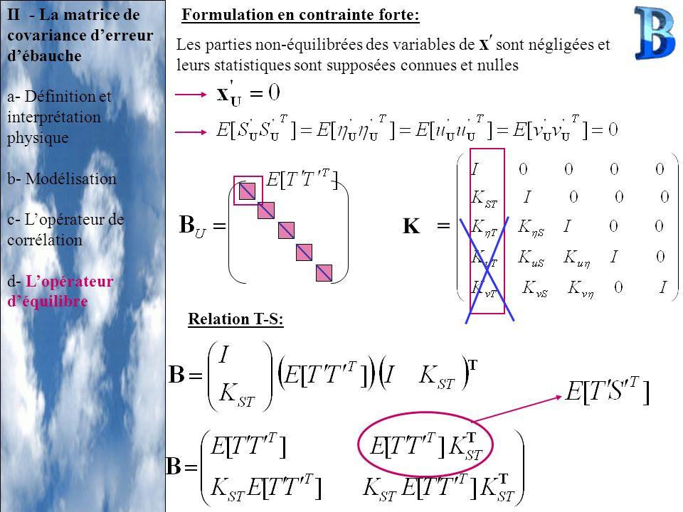K = II - La matrice de covariance d'erreur d'ébauche