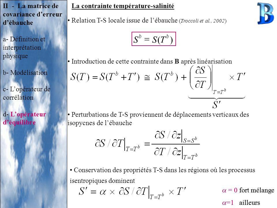 ( S ) T = II - La matrice de covariance d'erreur d'ébauche