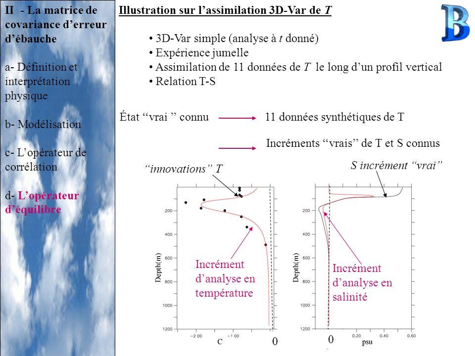 II - La matrice de covariance d'erreur d'ébauche
