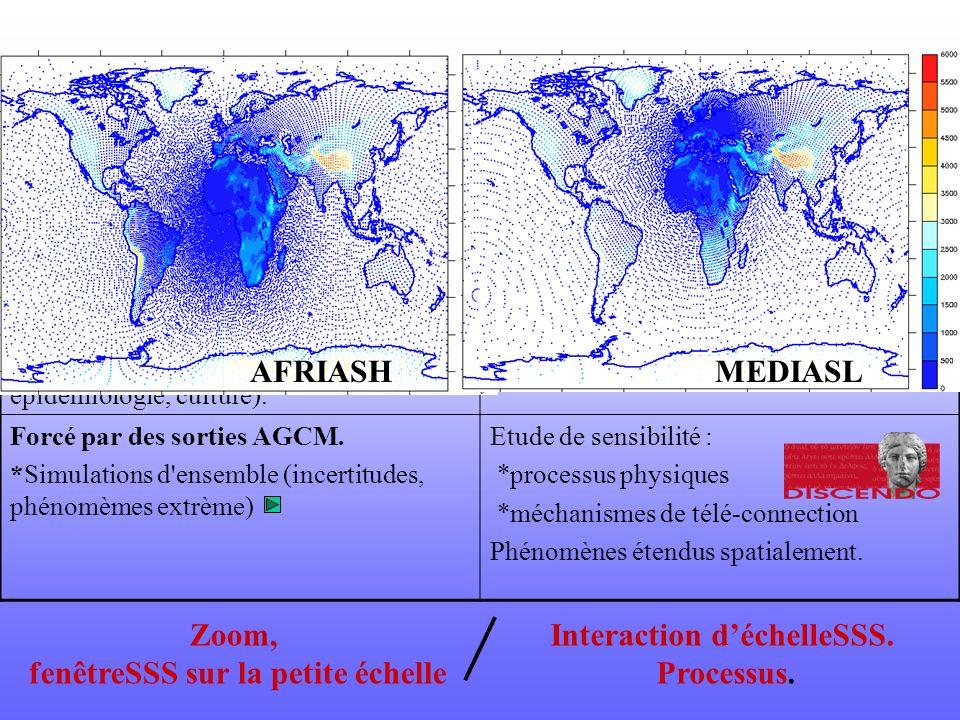 fenêtreSSS sur la petite échelle Interaction d'échelleSSS.