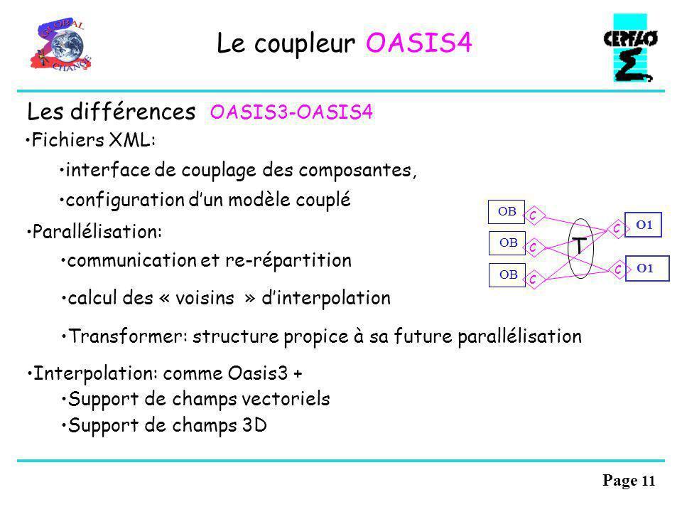 Le coupleur OASIS4 Les différences OASIS3-OASIS4 T Fichiers XML: