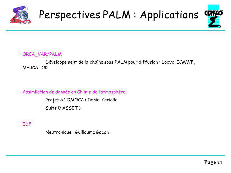 Perspectives PALM : Applications