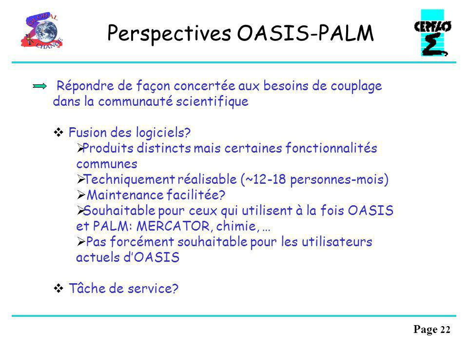 Perspectives OASIS-PALM