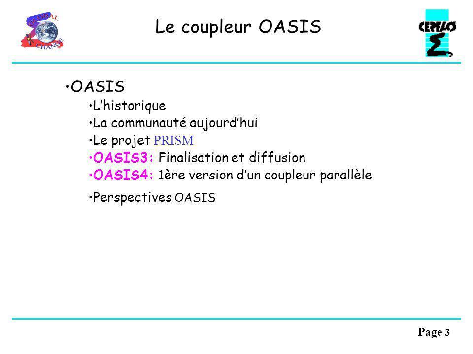 Le coupleur OASIS OASIS L'historique La communauté aujourd'hui