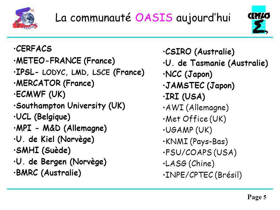 La communauté OASIS aujourd'hui