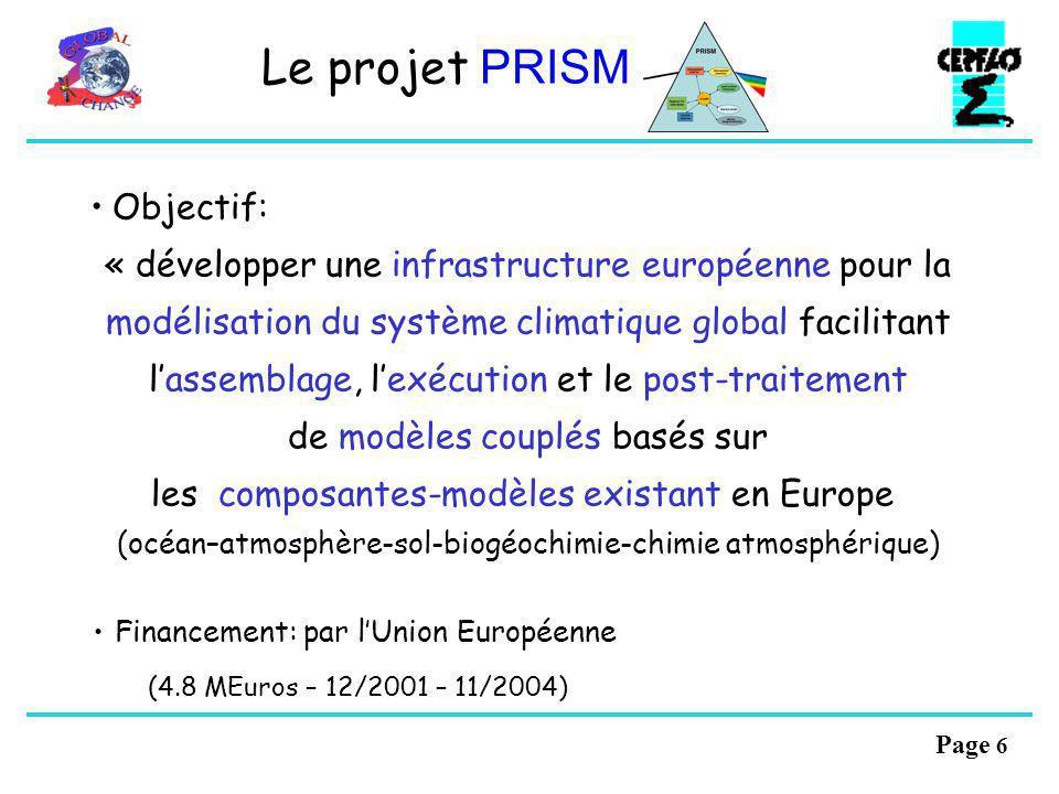 Le projet PRISM Objectif: